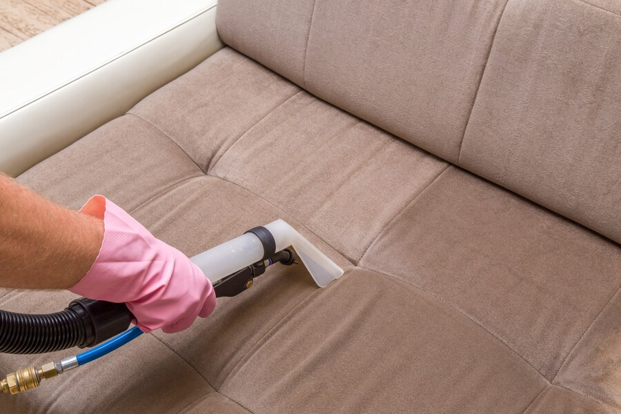 Upholstery cleaning by A Friendly Carpet Cleaning & Restoration LLC