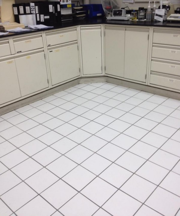 Commercial Tile & Grout Cleaning of a lab