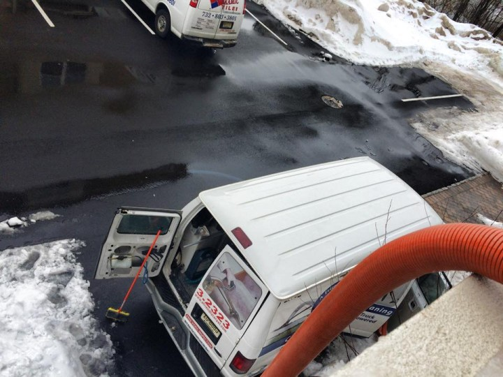 Extracting 90 Gallons of water all from snow! Luckily, A Friendly Carpet Cleaning & Restoration LLC arrived within an hour after receiving the call to save the carpet and prevent mold and further damage!