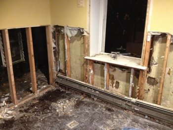 Damage Restoration - Helping a homeowner get their life back to normal after Hurricane Sandy in Bayonne, NJ